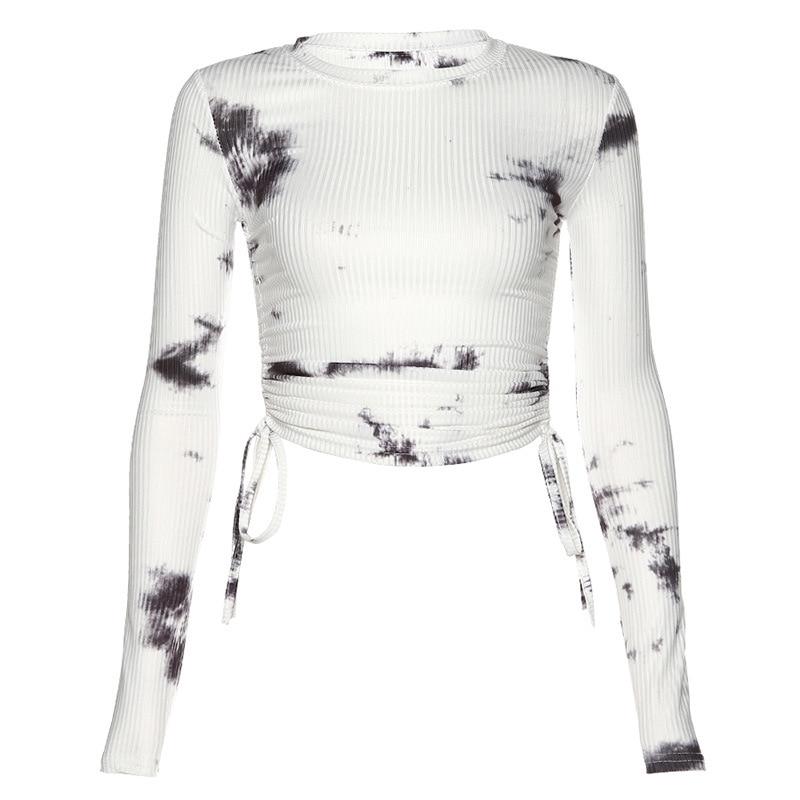 Осенняя Женская Новая мода с длинным рукавом оверсайз тонкий
