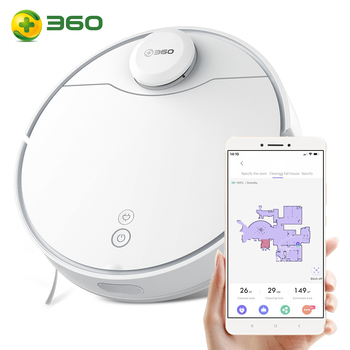 360 S6 Pro Laser Navigation Wet And Dry Robot Vacuum Cleaner RF Omnidirectional APP Dual Remote Control 5200mAh Battery 53dB