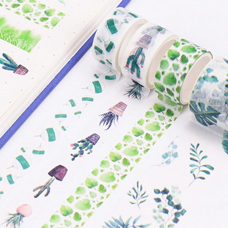 ><font><b>8Pcs</b></font>/<font><b>set</b></font> Colorful Cute Ocean Whale Plant Paper Masking Tape <font><b>Japanese</b></font> Stationery <font><b>Kawaii</b></font> Scrapbooking Adhesive Tape Sticker