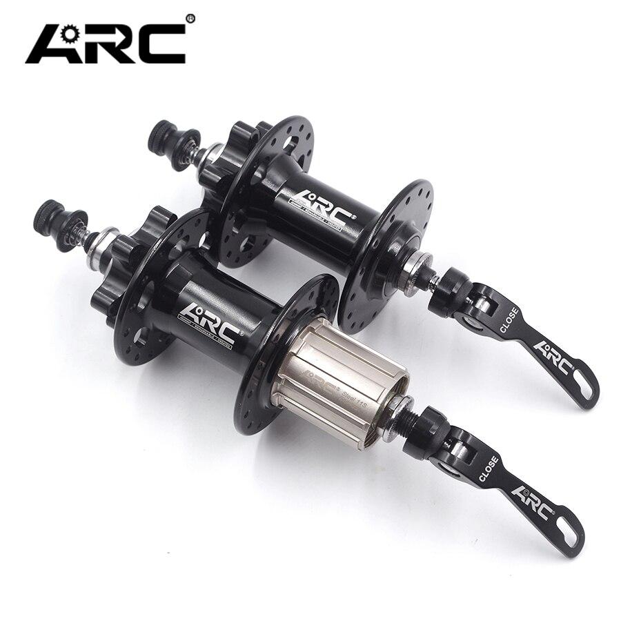 Ступицы для велосипедов ARC, передние и задние велосипедные ступицы с QR-шпагатором, 135 мм, MTB, горный велосипед с 6 подшипниками, 32H, 36H, для 8, 9, 10, ...