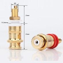 4pcs/set Hi end Gold Plated Copper Speaker Binding Posts Terminal Connector Hifi Amplifier