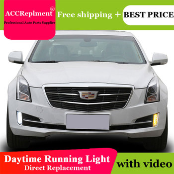 Car Styling For Cadillac ATS 2014-2019 LED DRL For Cadillac ATS LED Fog Lamps High Brightness Guide LED Daytime Running Lights
