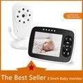 Новейший детский монитор, 3,5 дюймовый ЖК-экран, камера ночного видения для младенцев, двухстороннее аудио, датчик температуры, Эко режим, кол...