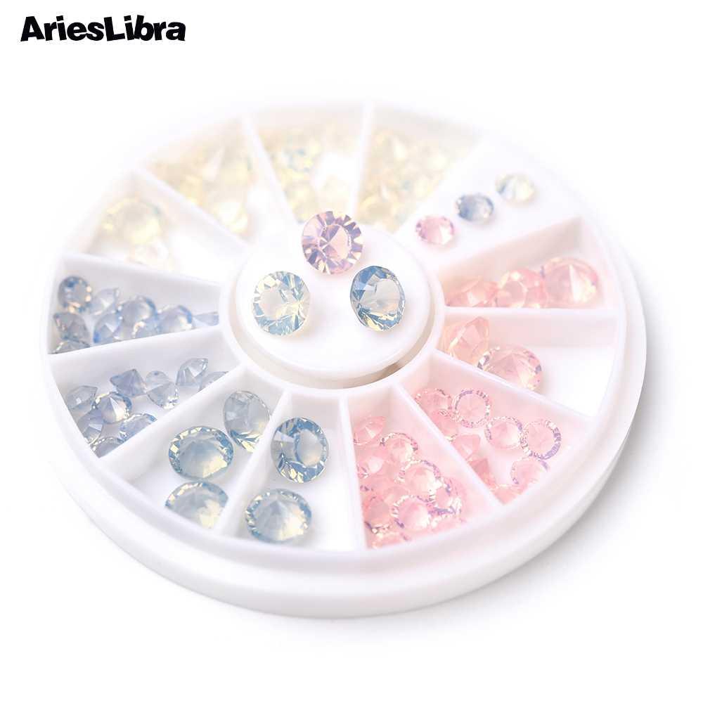 AriesLibraโอปอลรูปทรงกรวยRhinestoneเล็บตกแต่งเล็บRhinestonesเล็บอุปกรณ์เสริมเล็บเครื่องมือ