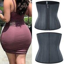 25 Steel Bone Waist Trainer Stomach Slimming Belly Belt Modeling Straps Corset Latex Waist Cincher Body Shaper Fajas Shaperwear