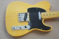Factory store TL TELE yellow body MAPLE fretboard 6 string Electric Guitar Guitarra