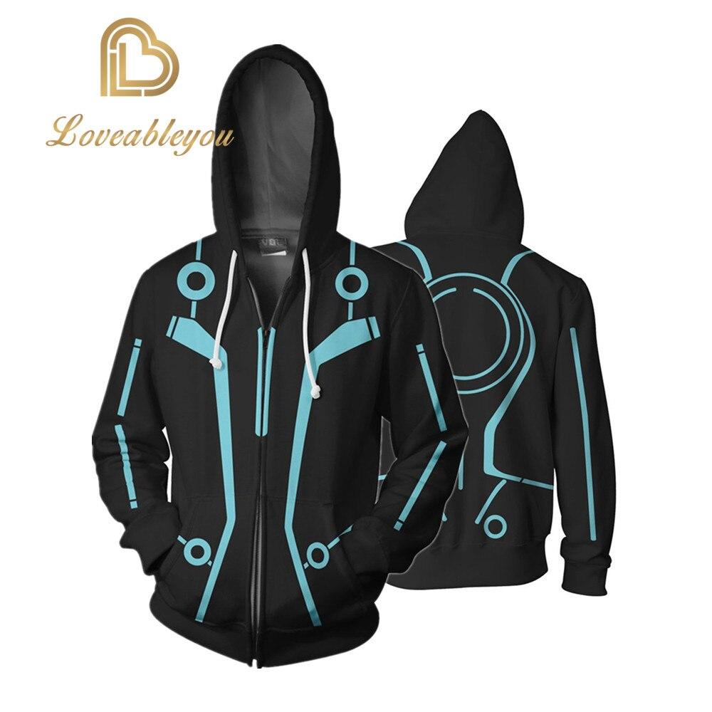 Legacy 3D Printing Hoodie Sweatshirts Cosplay Jacket Hooded Coat Movie Tron