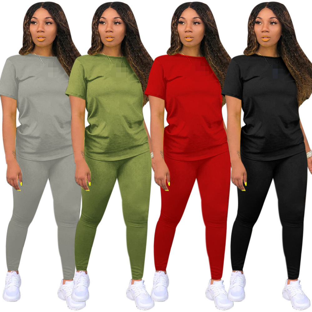 two piece set women 2 piece set women outfits tracksuit fall clothes for female 2020 2 pieces sets t shirts pants outfits 1