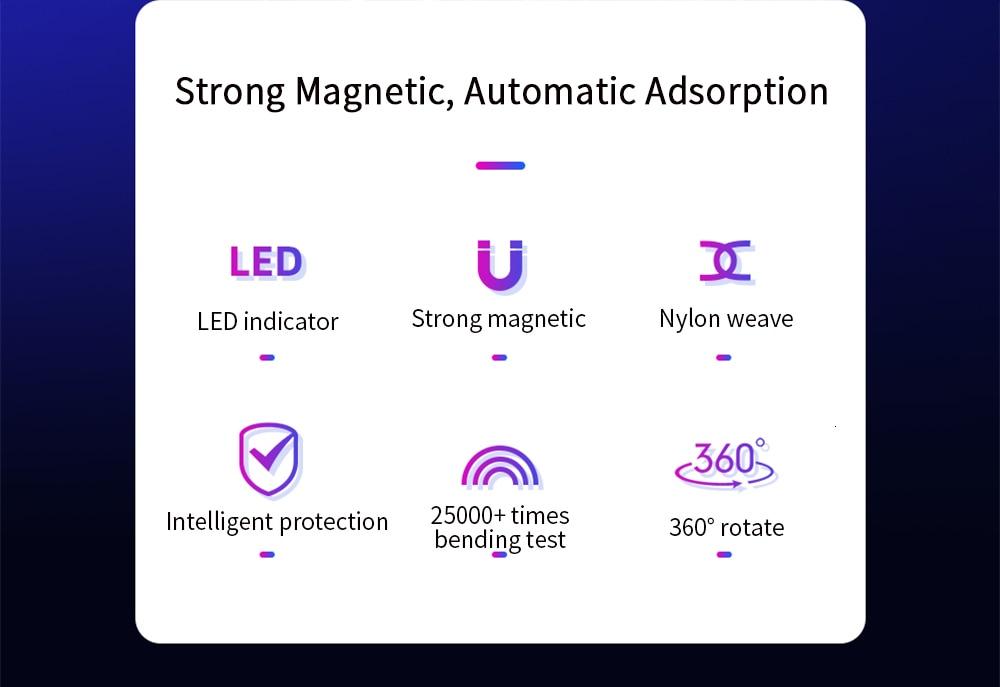 FPU 3 м Магнитный Micro USB кабель для iPhone samsung Android мобильный телефон Быстрая зарядка usb type C кабель магнит зарядное устройство провод шнур