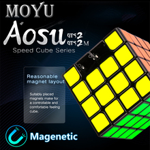 New MoYu Aosu GTS2M 4x4x4 Magnetic Magic Speed Cube Professional Stickerless GTS2 M Magnets Puzzle Cubo Magico Toys For Children 3x3x3 moyu weilong gts v2 m 3m magnetic puzzle magic gts2m speed cube gts 2m magnets cubo magico profissional toys for children