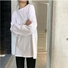 Liscn 100% Хлопковая женская футболка с длинным рукавом 2021