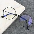 Винтажная круглая металлическая оправа, синий светильник, блокирующий личность, стиль колледжа, прозрачные линзы, очки для глаз, защита для ...