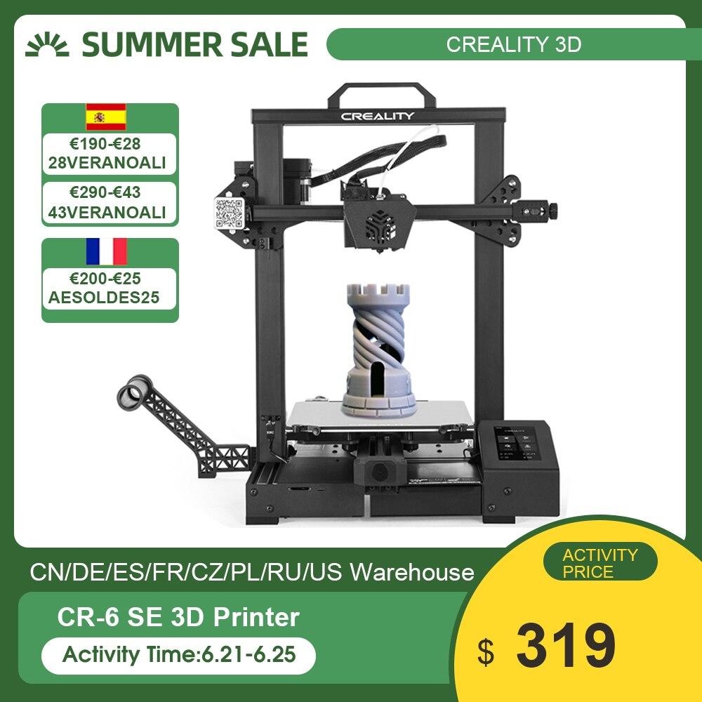 Оригинальный Creality 3D CR-6 SE Модернизированный Высокоточный 3D-принтеры DIY Kit печати Размеры 235*235*250 мм 4.3in HD Цвет сенсорного экрана
