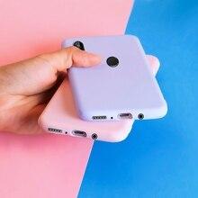 Phone Case For Huawei P8Lite P9Lite P10Lite P20Lite P30Lite Candy Color Soft TPU Color Back
