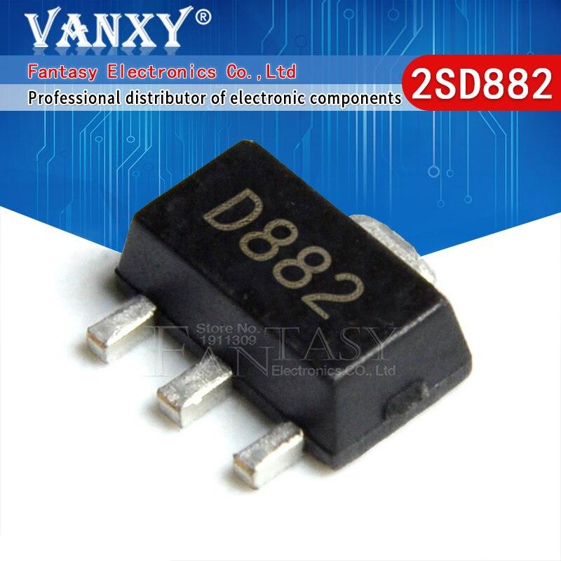 20 шт. 2SD882 SOT89 D882 SOT-89 SOT SMD новый и оригинальный IC