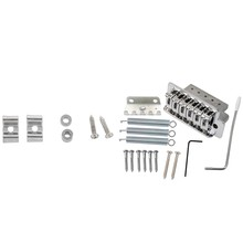 15Pcs Chrome Guitar Tremolo Bridge with Bar New & 1 Set Pure Vintage String Tree Kit(China)