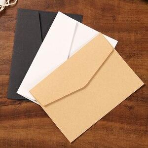 10/Pcs Classical Paper Envelopes White Black Kraft Blank Paper Window Envelopes Wedding Invitation Envelope Gift Envelope