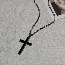 Vintage Gothic Pendants Cross Necklace Cool Street Style Necklaces For Men Women Unusual Chain On the Neck Chains Punk Jewelry