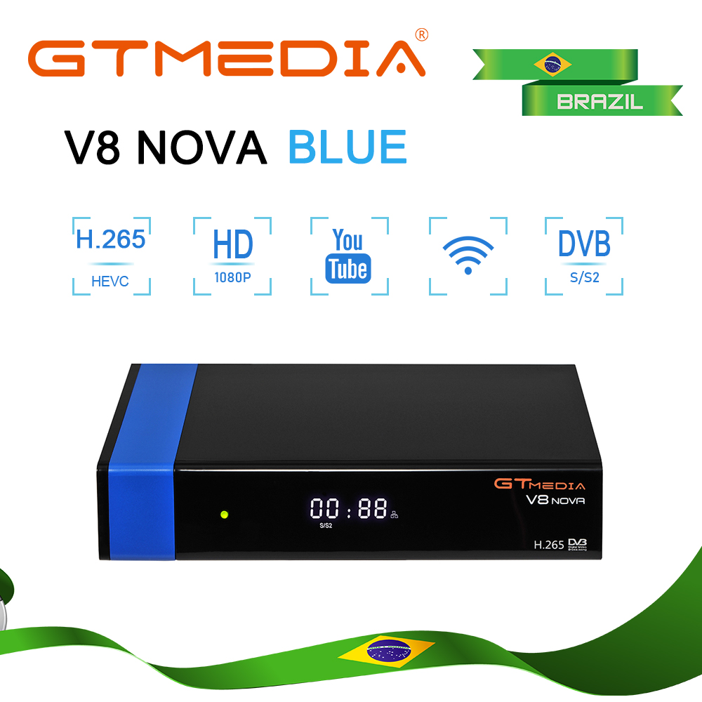 GTMEDIA V8 MPEG-4 Digital TV DVB S2 Receptor Satellite Receiver DVB-S2 H.265 Decoder Cccam/Vu/Biss Key Wifi Youtube Set Top Box