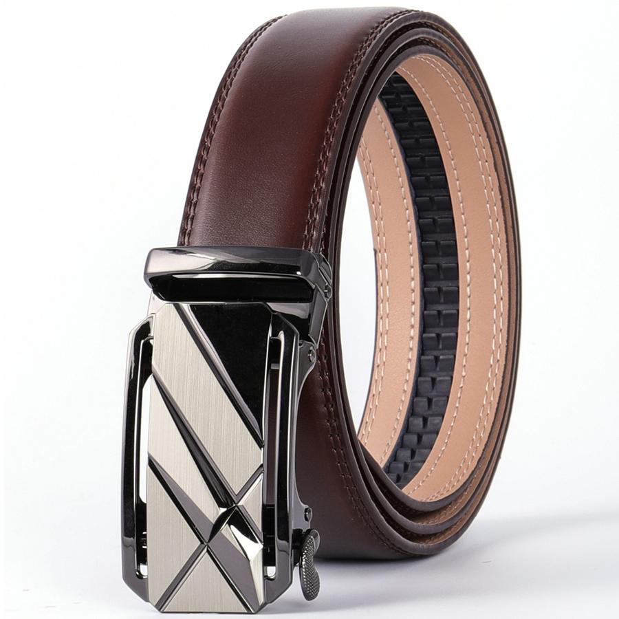 Plyesxale Fashion Designer Men Belts Famous Brand Genuine Leather Male Belt Luxury Black Coffee Automatic Buckle Ceinture B72 Men S Belts Aliexpress