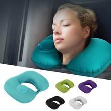U şeklinde şişme seyahat yastık yürüyüş yatak yastık boyun yastık şişme yastık ev ofis araba için seyahat