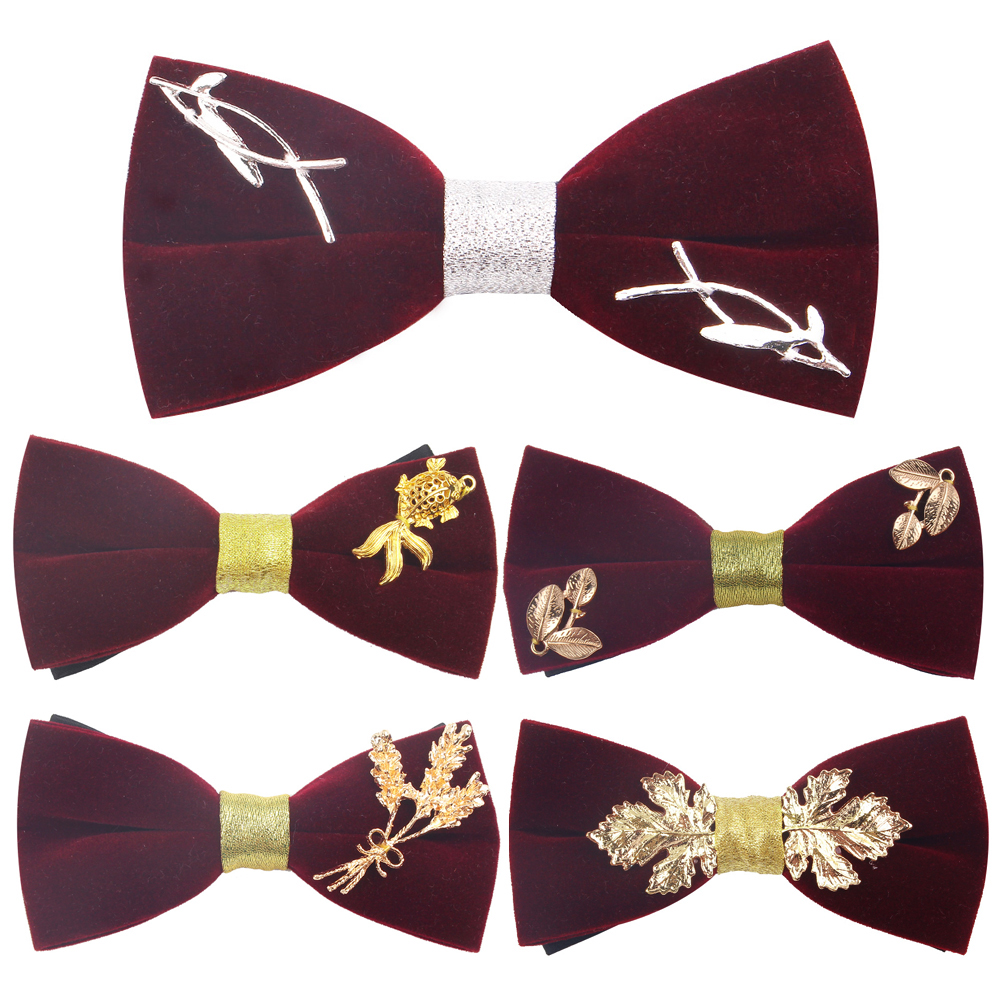 Handmade Wine Red Bow Tie For Men Women Classic Suits Bowtie For Party Wedding Bowknot Adult Bow Ties Cravats Ties