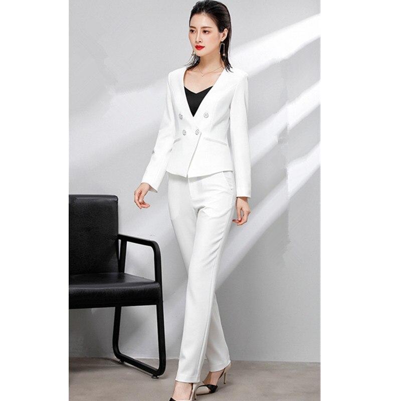 Women's Suit Women's Double-breasted Suit Two-piece Suit (jacket + Pants) Women's Business Work Professional Wear Custom Made