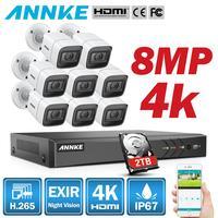 ANNKE 4K 8CH Ultra HD CCTV Camera System H.265 DVR Kit 4PCS/8PCS 8MP TVI Outdoor Home Video Security Surveillance System
