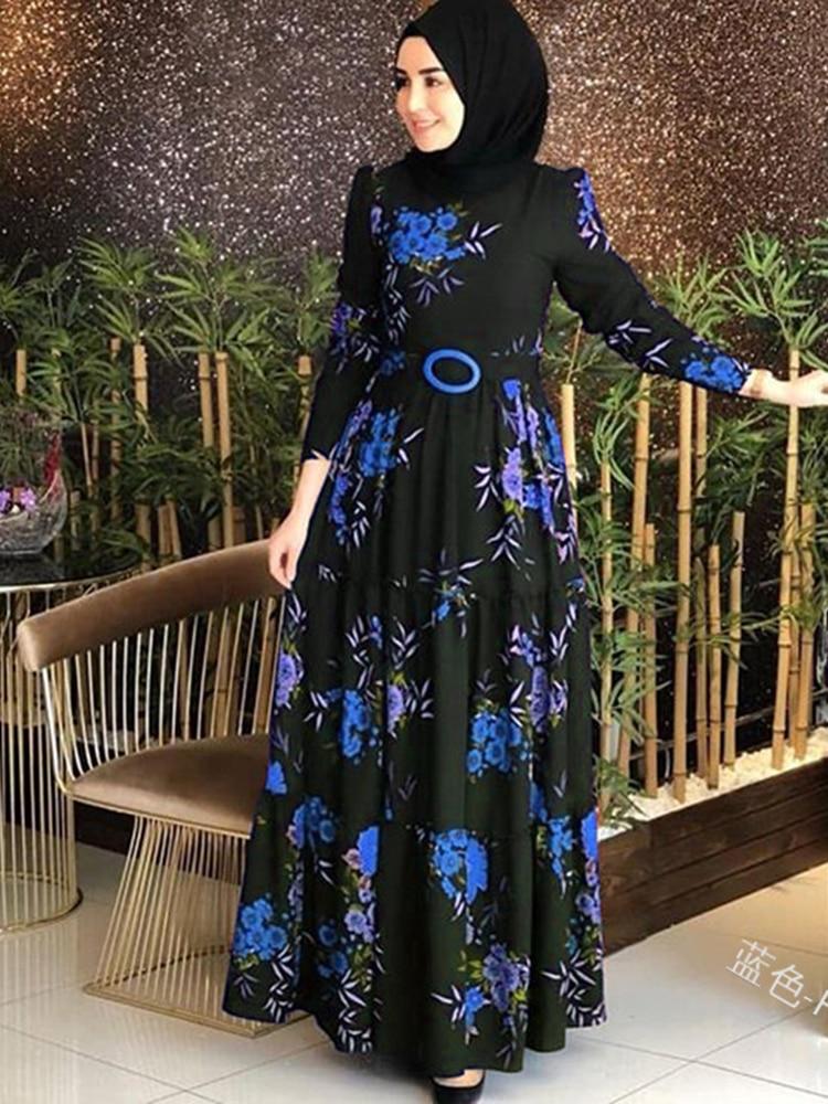 Винтажное платье с цветочным принтом и длинным рукавом, комплект для плавания в африканском стиле, Женская туника, пляжный купальный костюм, накидка, мусульманское платье|Пляжная одежда|   | АлиЭкспресс