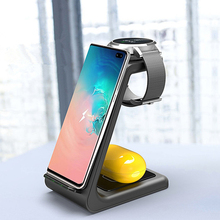 QI Wireless Charge ขาตั้ง 10 วัตต์ 3 In 1 Wireless Charger สำหรับ IPhone 11 Pro Charger Dock สำหรับ apple 5 4 Airpods Pro