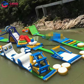 Giant Aquapark Floating Inflatable Water Park, Adult inflatable water sports games For Sea Lake wb002 benao 3m inflatable zorb wall colourful inflatable water roller glow lights in dark water rolling ball for water games