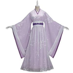 Image 4 - Uwowo TV serisi Mo Dao Zu Shi en olgunlaşmamış Jiang Yanli Cosplay kostüm antik kadın giysisi aksesuarları ile