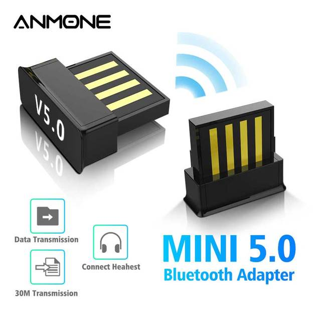 ANMONE Mini BT5.0 USB Bluetooth Wireless Adapter 5.0 Computer Audio Bluetooth Transmitter Adapter PC Dongle For TV PC Car Kit 1
