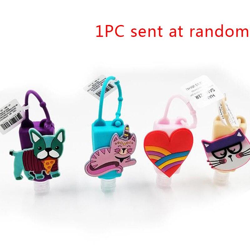 Silicone Cute Cartoon Cat Dog Mini Hand Sanitizer Disposable No Clean Detachable Cover Travel Portable Safe Gel