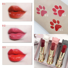 3 colors  lipstick Sicilian cat set long-lasting Moisturizing easy to wear beauty makeup