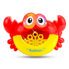 Crabs Birthday Gifts Bath Toys Baby Shower Kids Cute Bathtub Infant With Light Music Bubble Blower Funny Machine Maker Soap