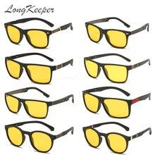 Longkeader новинка мужские солнцезащитные очки для ночного вождения