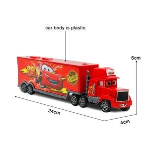 Image 3 - 7pcs/set Disney Pixar Car 3 Jackson Storm McQueen Lightning Cruz Mack Uncle 1:55 Diecast Truck Model Car Toys for Kids Christmas