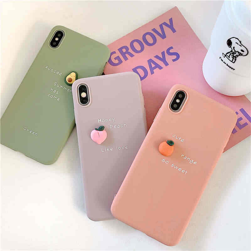 3D şeker meyve avokado yumuşak telefon kılıfı için Huawei Y9 2019 P20 P30 Mate 20 lite onur 20 Pro 8X kapak onur 10 lite Nova 3i