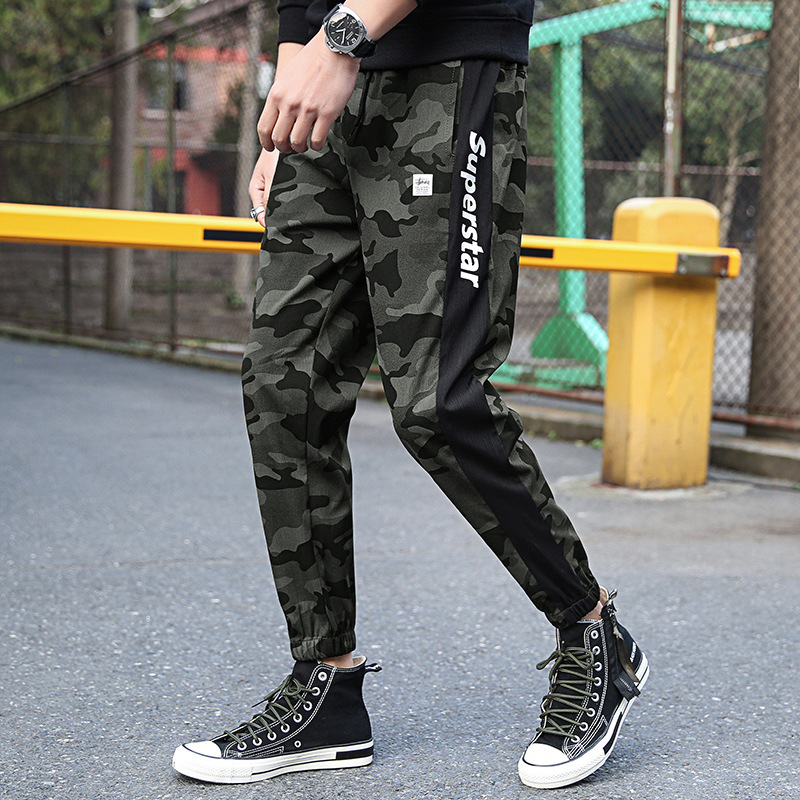 Men's Leisure Pants Sports Camouflage Cotton Sweat Pant Male Tracksuit Casual Workout Fitness Man Sporty Trousers