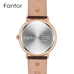 Image 4 - Fantor ผู้ชายง่ายๆสบายๆนาฬิกาวันที่นาฬิกาควอตซ์สายหนังโค้งนาฬิกาข้อมือผู้ชายนาฬิกาส่องสว่างกันน้ำชุดนาฬิกา