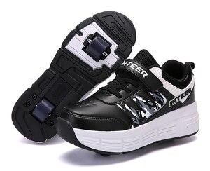 Image 5 - EUR 31 42 ילדי Junior רולר סקייט נעלי ילדים סניקרס עם אחד/שני 2020 בני בנות נעלי גלגלים למבוגרים מזדמנים נערי נעליים
