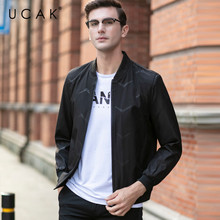 UCAK Brand Men Clothing Streetwear Clothes Men jacket Striped Blouson Homme Casual Jackets  Spring New Arrival Zipper Coat U8071