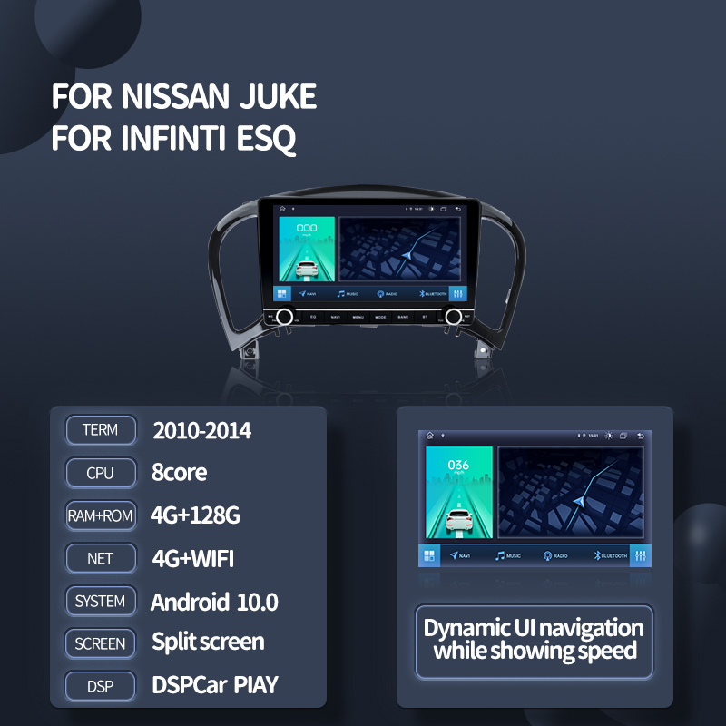 Автомагнитола Kingchange, 9 дюймов, Android 10,0, для Nissan Juke YF15 2010-2014, GPS-навигация