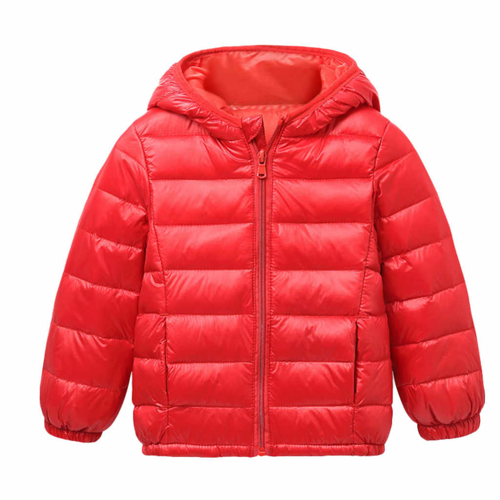 2019 Autumn Winter Warm Jackets For Girls Coats For Boys Jackets Baby Girls Jackets Kids Hooded Outerwear Kurtka Dziewczynka