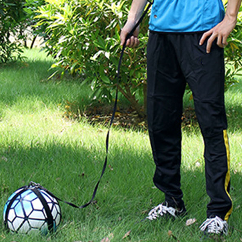 Football Soccer Trainer Kick Ball Training Elastic Hand-free Football Skills Training Strap Belt ENA88