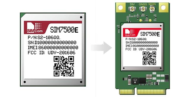 SIMcom SIM7500E  LTE Module Cat1  MINIPCIE Interface, 100% Brand New Original,