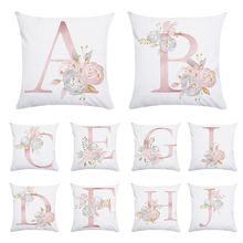 Pink Letter Decorative Pillow Cushion Cover Pillowcase Sofa Polyester Home Decoration