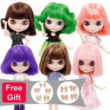 DBS bjd muñeca Blyth cuerpo articulado pelo corto y de aceite piel blanca cara brillante precio especial Licca juguete niña regalo 1/6 icy 30cm muñeca