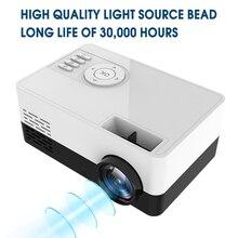 Mini projetor portátil hd j15 de 1920*1080p, mini projetor home theater com suporte de cartão av usb sd beamer portátil pk j9